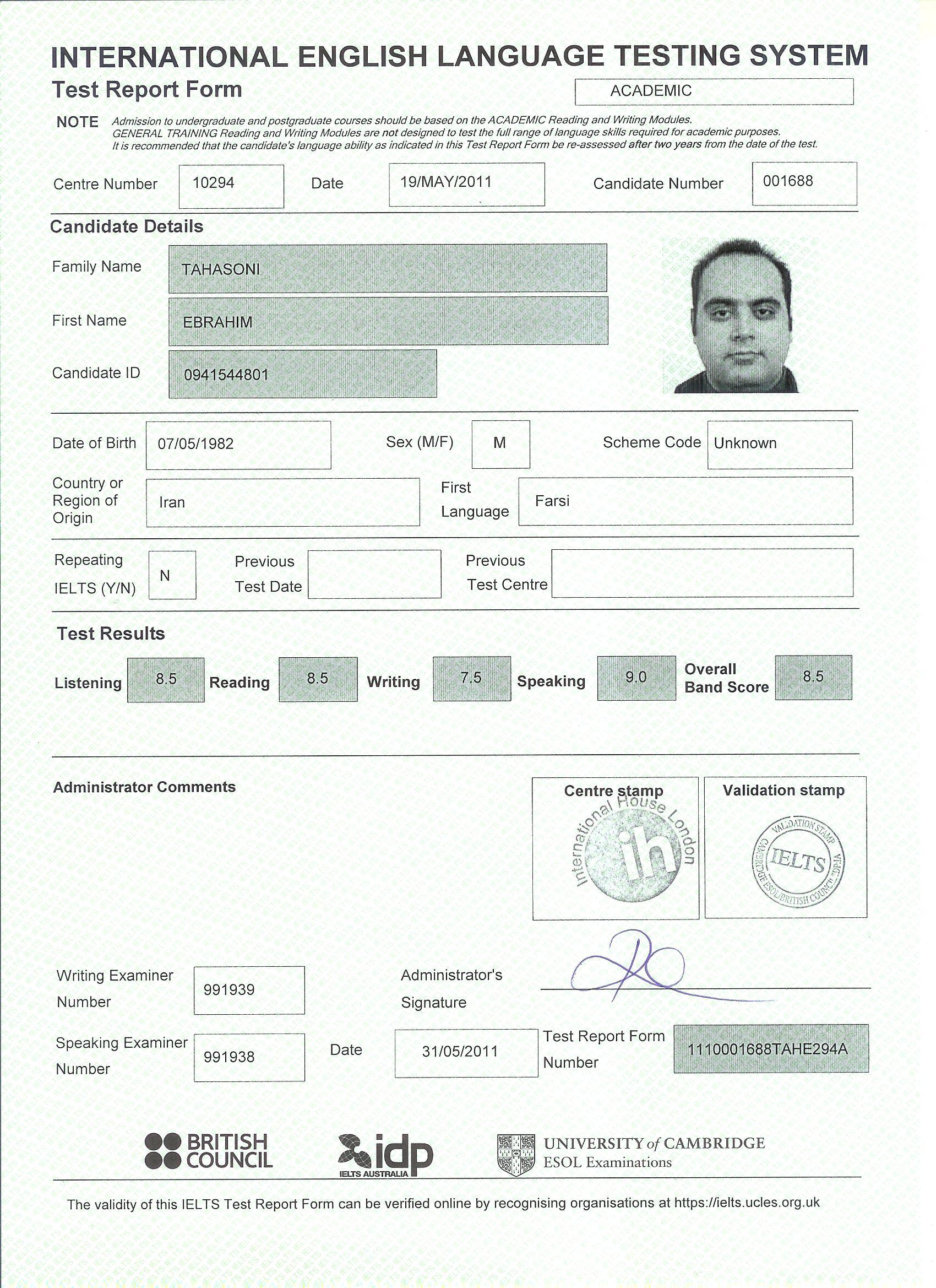 Iran resume